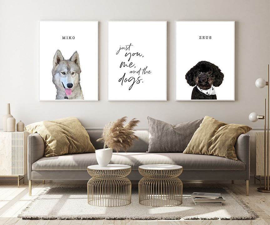 Just You, Me, & the Dogs (Customizable for Your Pet or Pets)