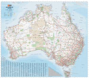 Wall/Flat Maps of Australia