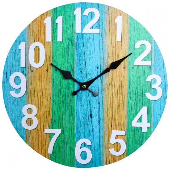Colourful 'Boardwalk' clock