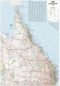Wall/Flat Maps of Queensland