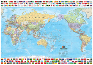 Wall/Flat Maps of the world
