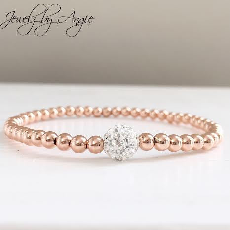 913960030f5 Rose Gold White Pave Bracelet - Jewelz by Angie