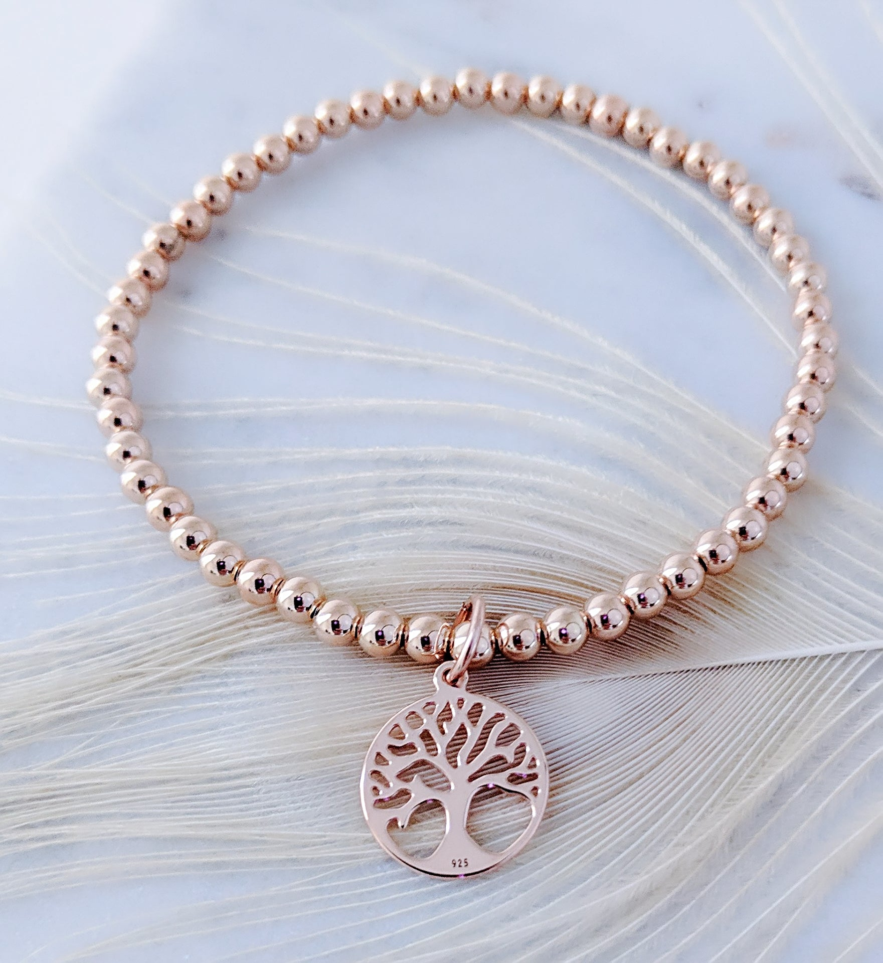 b84f00e5e85 Rose Gold Tree of Life Charm Bracelet - Jewelz by Angie