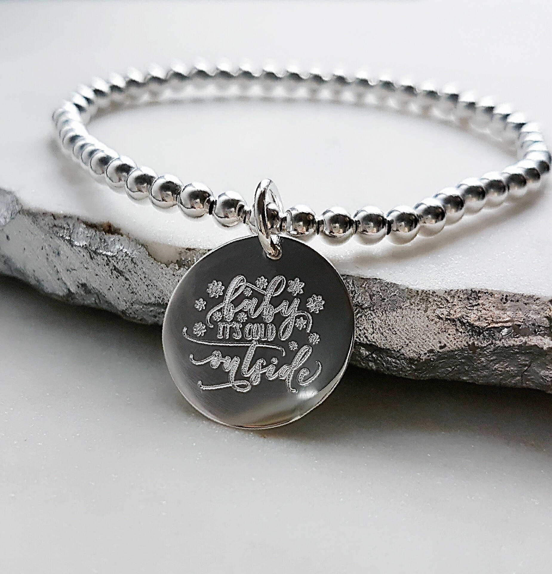 c9ecbe7a520  Holiday Exclusive  Sterling Silver Baby it s cold outside Bracelet - Jewelz  by Angie