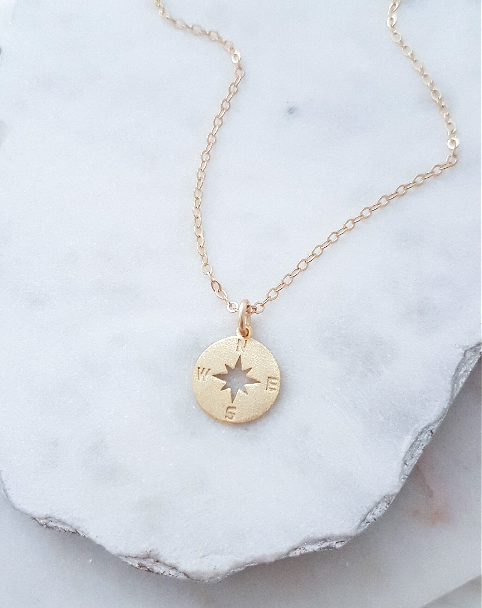 compass customer diamond necklace vermeil silver with golden favorite new necklaces
