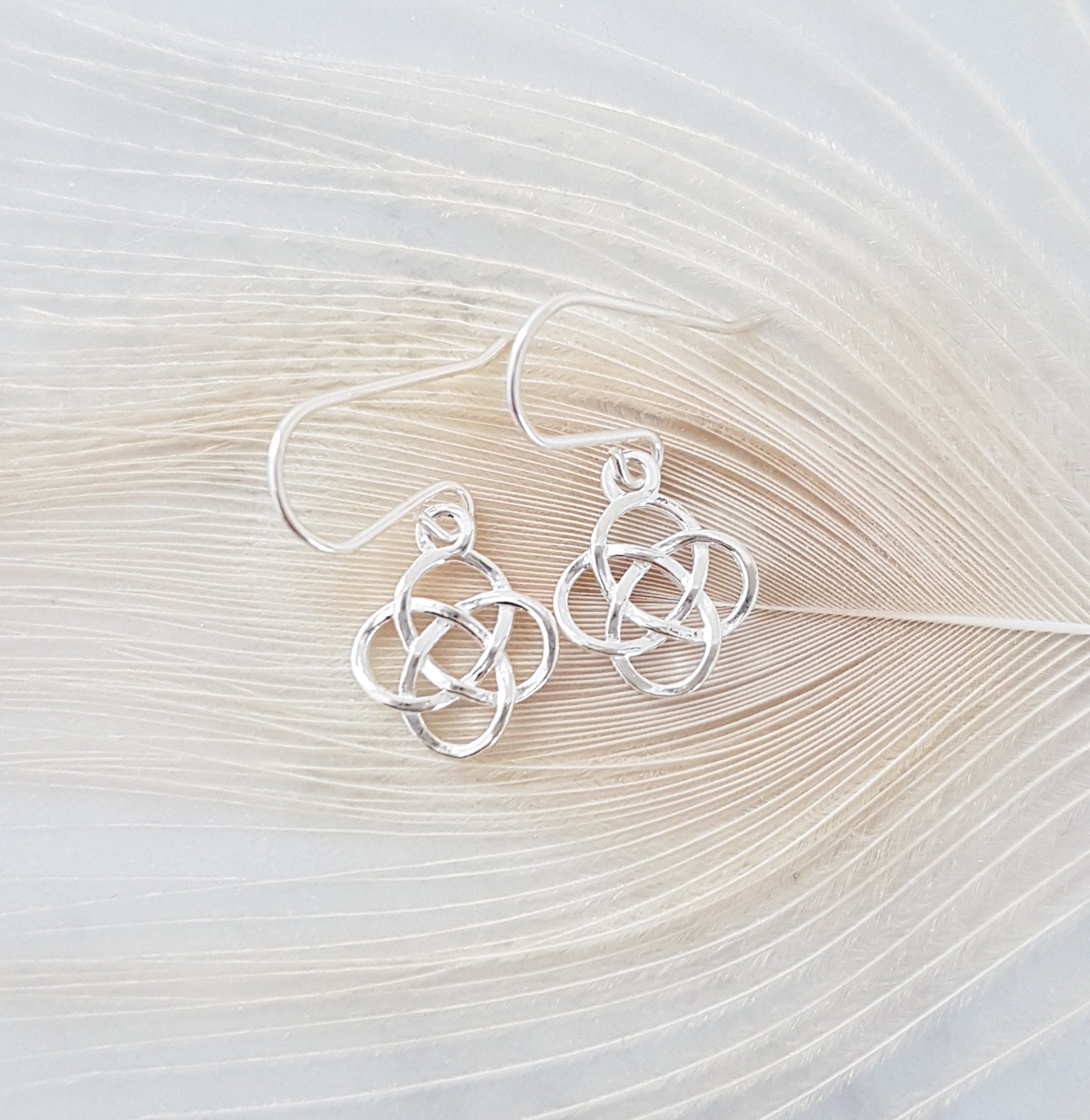 earrings sterling silver designer eves celtic style knot addiction