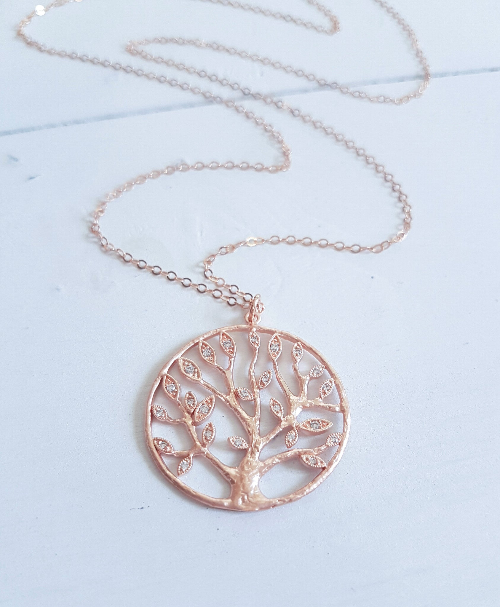 rose necklace silver name pendant s family engraved gold tree itm personalised plated
