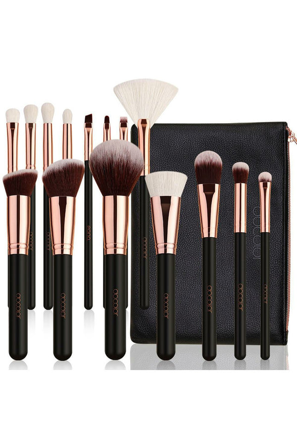 Rose Gold 15pce Pro Brush Set with Bag