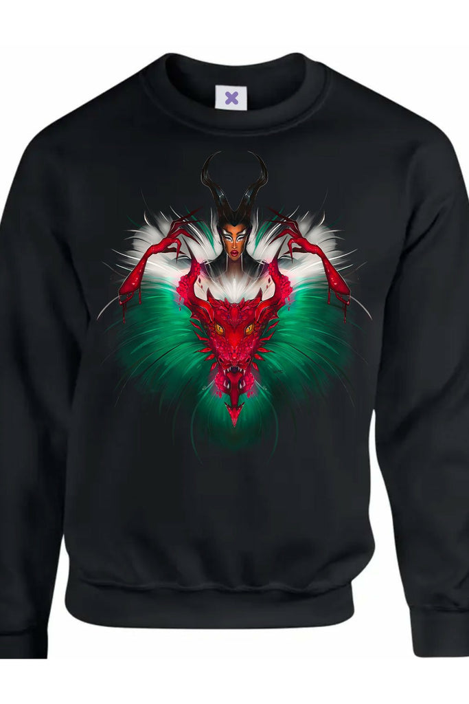Tayce Wales Dragon Black Jumper
