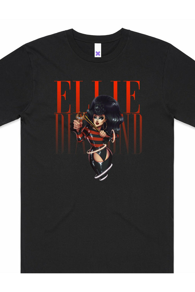 Ellie Diamond Menace Black T-Shirt