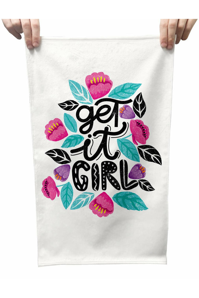 Get It Girl Plush Tea Towel