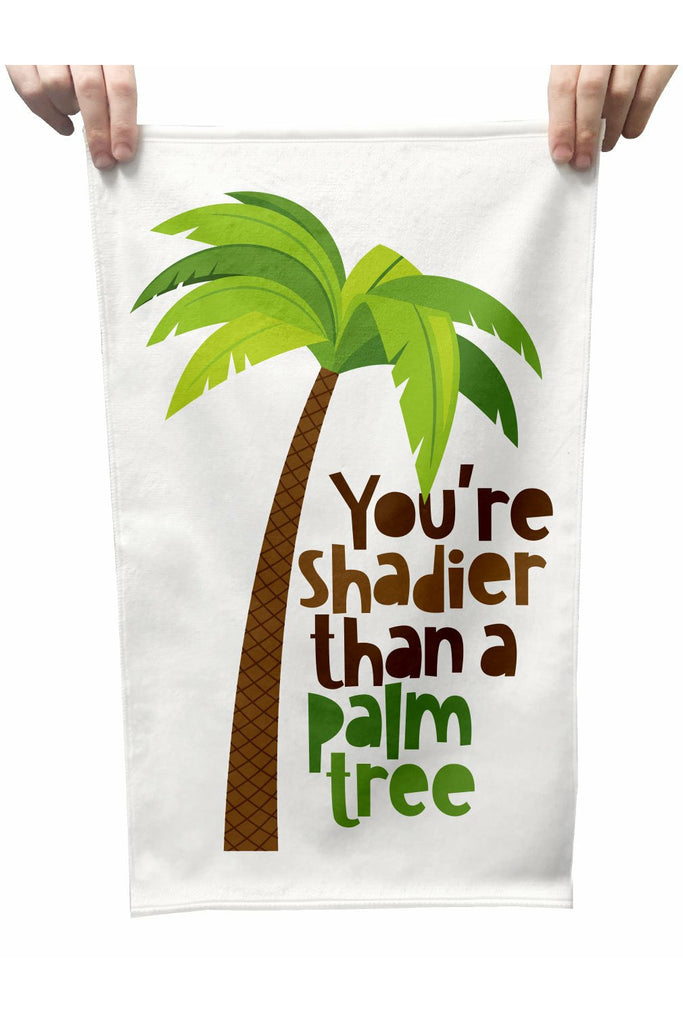 Shadier Than A Palm Tree Plush Tea Towel