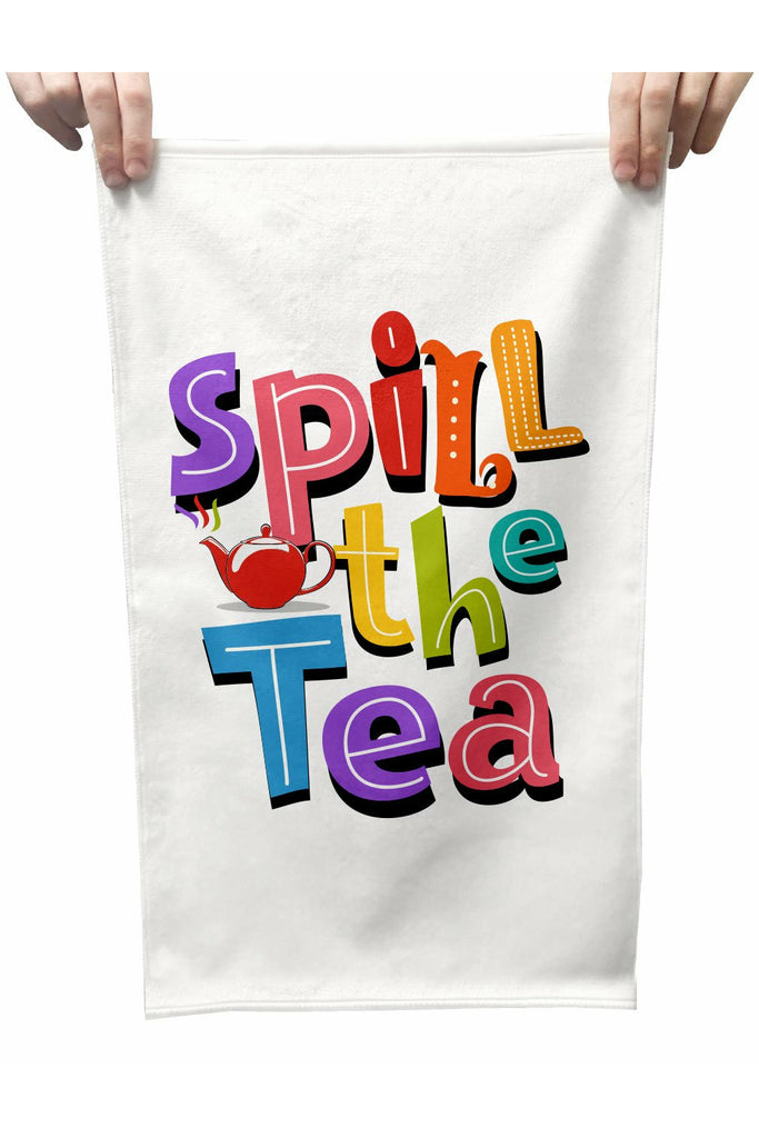 Spill The Tea Plush Tea Towel