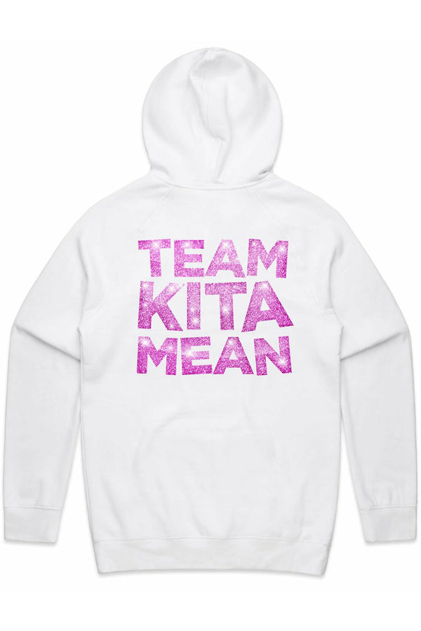 Kita Mean Heart White Hood