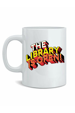The Library Is Open Mug