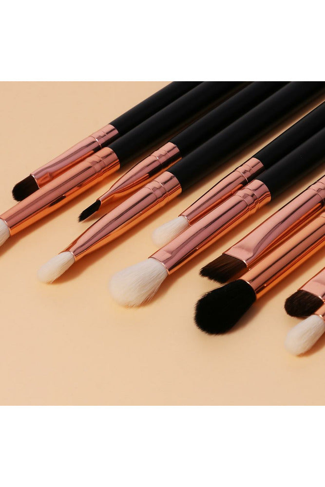 Rose Gold 10pce Pro Eye Brush Set