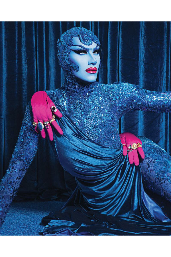 Sasha Velour Blue Queen Pin