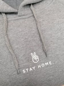 "Mono Hoodie ""Stay Home Stay Strong"" Center Print"