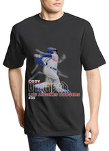 "Load image into Gallery viewer, Dodgers ""Cody Bellinger"" 2020 Retro Tee (Black)"