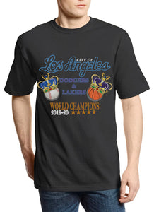 "City of Los Angeles ""Champions"" Lakers x Dodgers Vintage Tee (Black)"