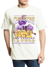 "Load image into Gallery viewer, Lakers ""2020 Championship"" Tee (Vintage White)"