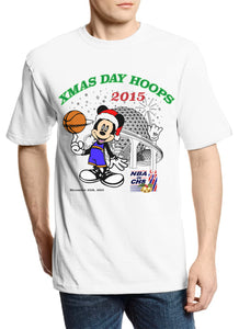 "Christmas Day Hoops ""Mickey Club"" Parody Tee"