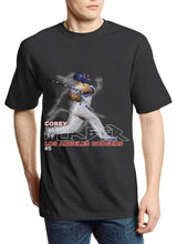 "Load image into Gallery viewer, Dodgers ""Corey Seager"" 2020 Retro Tee (Black)"
