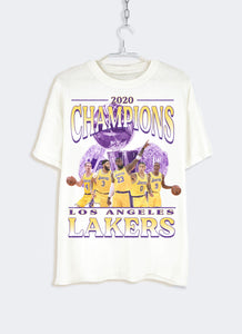 "Lakers ""2020 Championship"" Tee (Vintage White)"