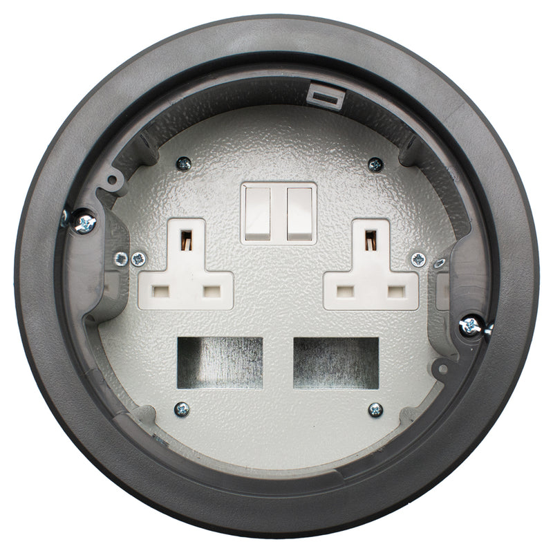 169mm Standard Power Grommet with 2 Data Spaces