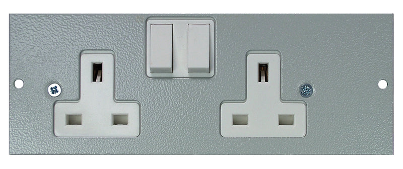 STO290/SW/LH - Left Hand Twin Switched Sockets Plate (Side Wired)