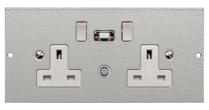 STO291/RCD/GB - Twin Switched RCD Protected Sockets