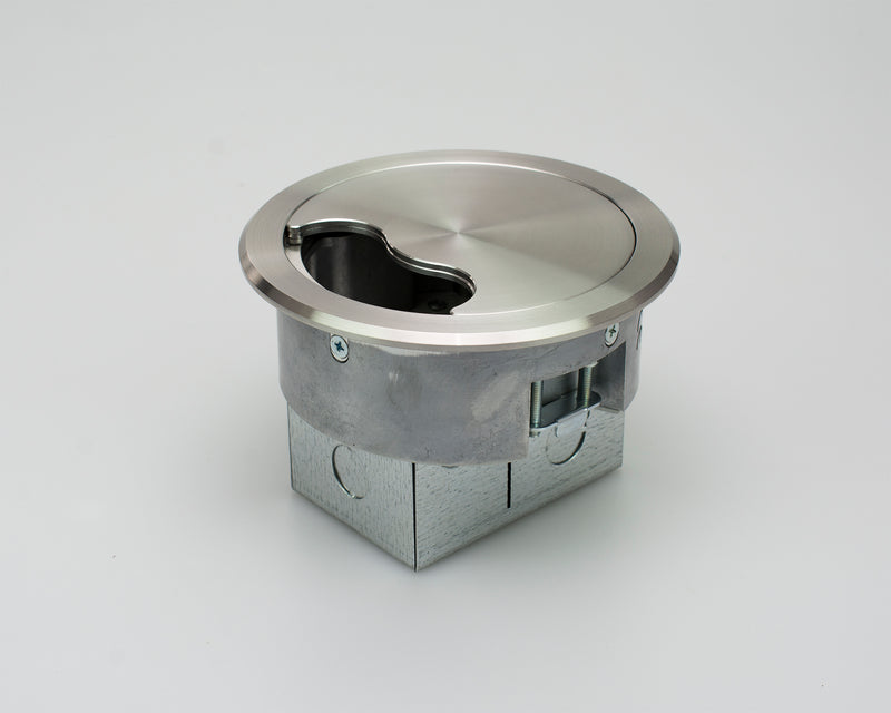 127mm Stainless Steel Power Grommet with 2 Data Spaces