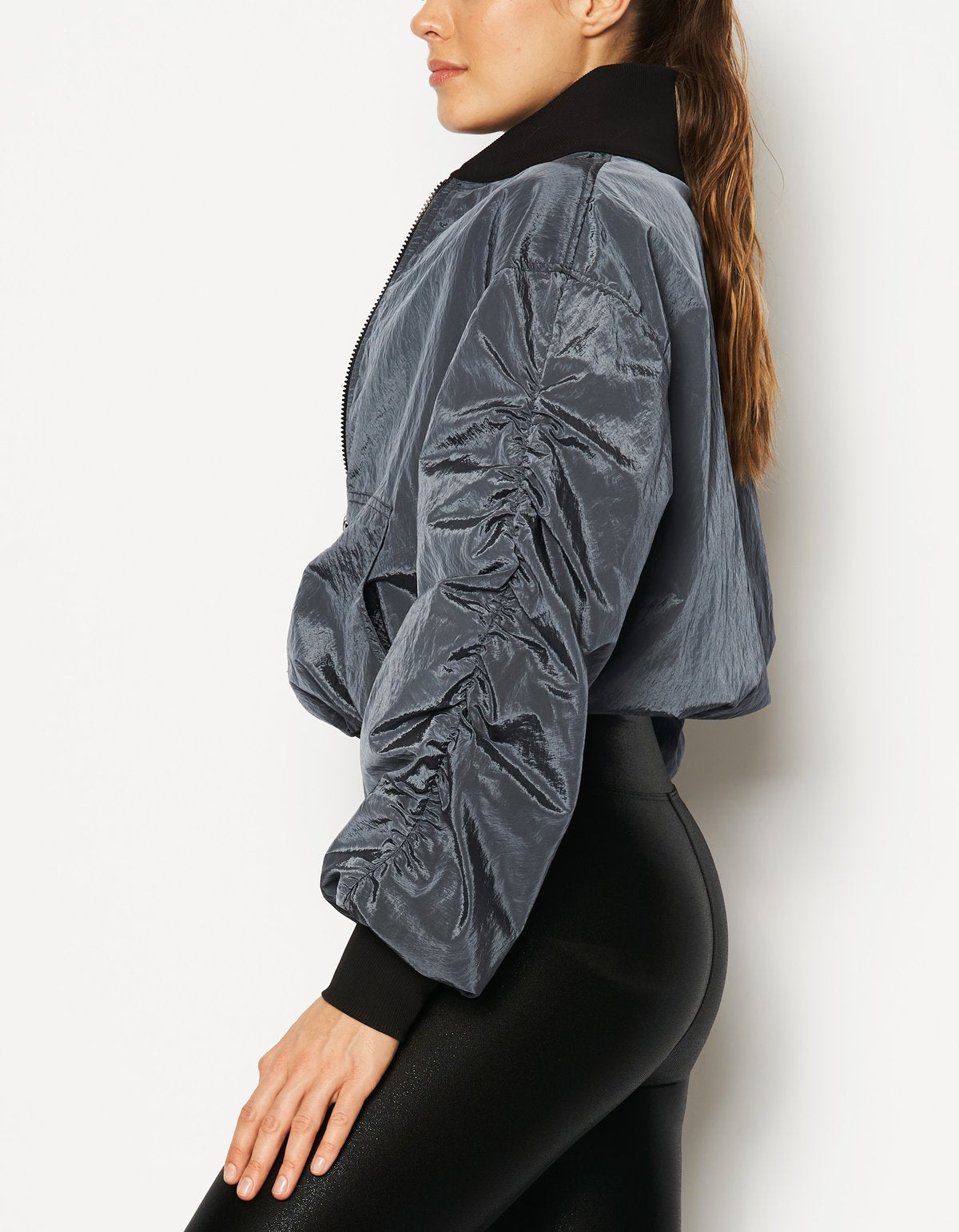 RUCHED BOMBER