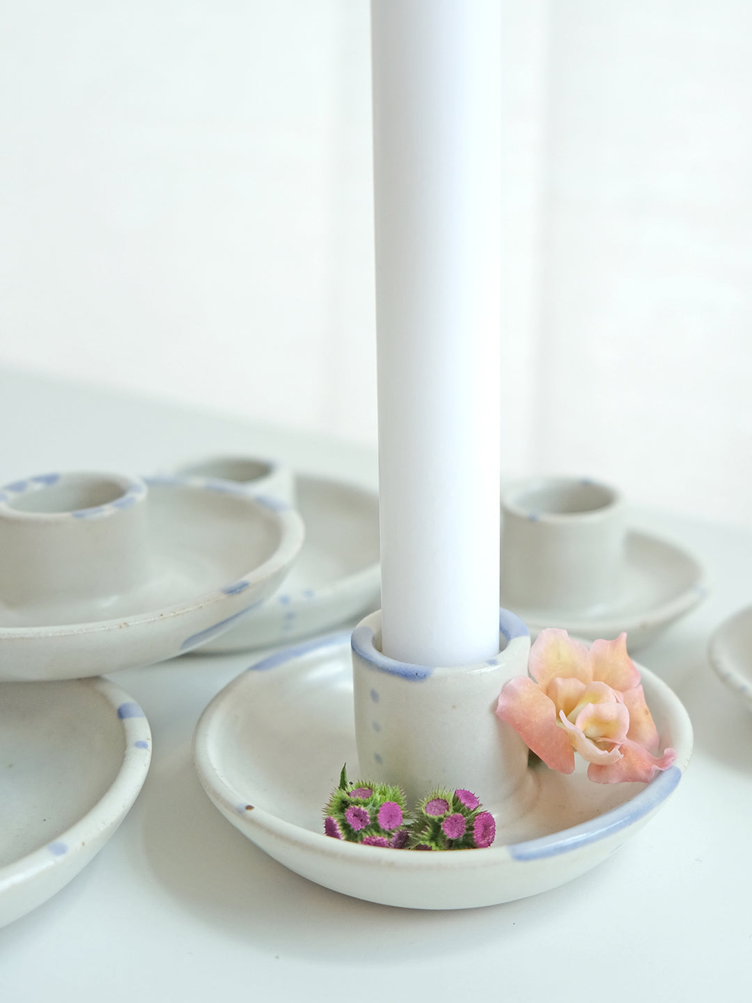 Blomma Tapered Candle Holder - Mixed Dots 3