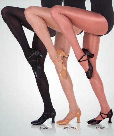 Body Wrappers Ultimate Shimmer Footed Tights