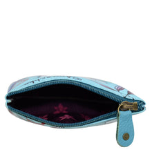 Load image into Gallery viewer, ANUSCHKA 1031 SMALL ZIP POUCH Jardin Bleu