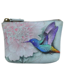 Load image into Gallery viewer, ANUSCHKA 1031 SMALL ZIP POUCH  Rainbow Birds