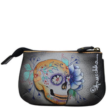 Load image into Gallery viewer, ANUSCHKA 1107 MEDIUM ZIP POUCH Day of the Dead