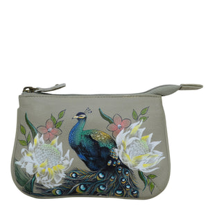 ANUSCHKA 1107 MEDIUM ZIP POUCH Regal Peacock