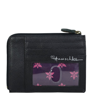 ANUSCHKA 1160 KEY ZIP CASE Island Escape Black