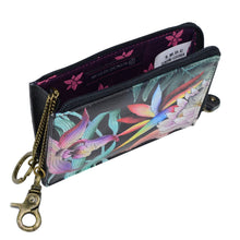 Load image into Gallery viewer, ANUSCHKA 1160 KEY ZIP CASE Island Escape Black