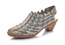 Load image into Gallery viewer, RIEKR 46778 WOVEN LEATHER SLING GREY MULTI