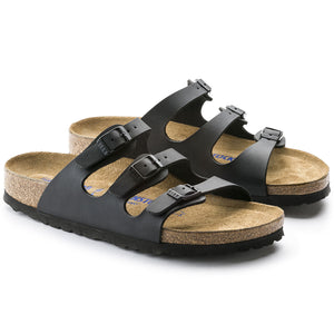 Florida Black Birkoflor Soft Footbed
