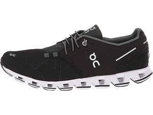 ON RUNNING CLOUD MENS BLACK & WHITE
