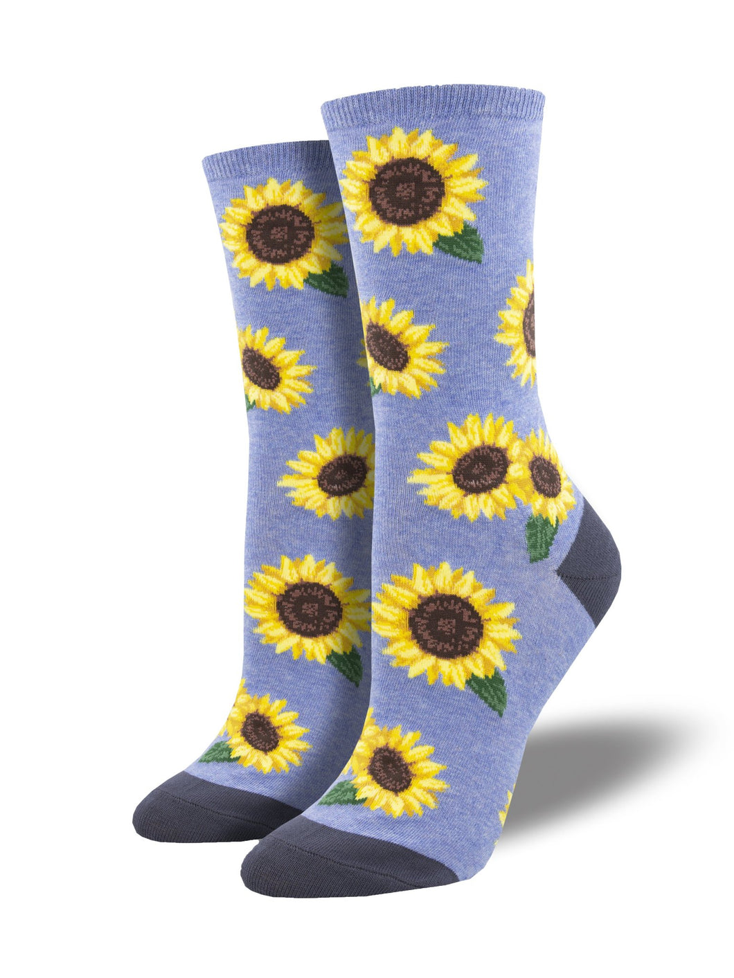 SOCKSMITH WOMENS MORE BLOOMING Blue Heather