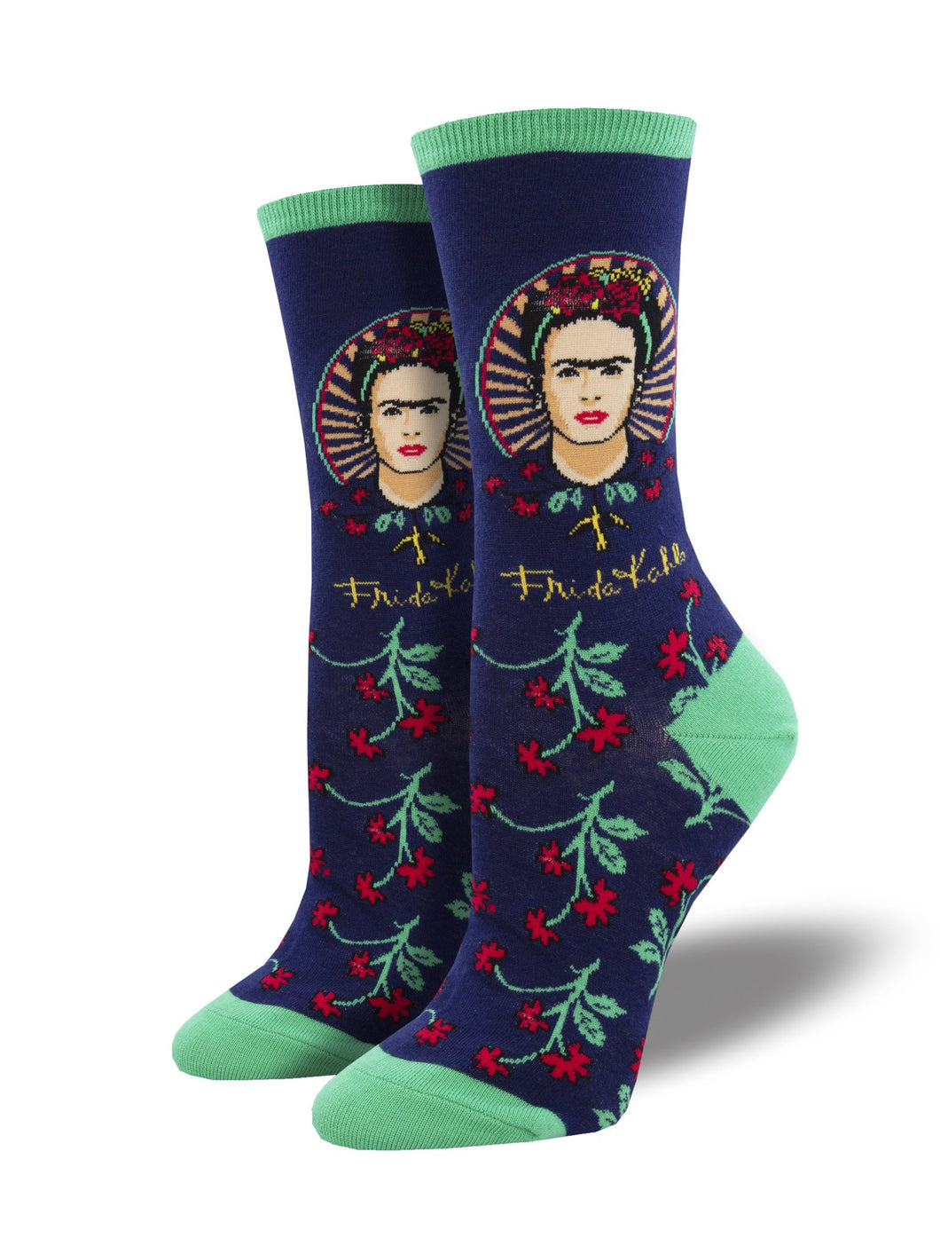 SOCKSMITH WOMENS FRIDA FLOWER Navy