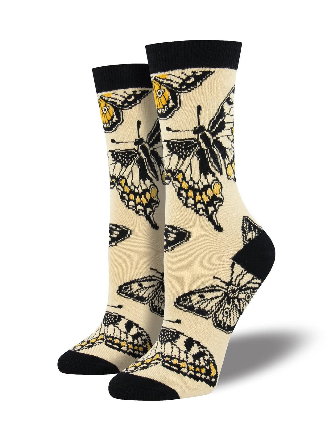 SOCKSMITH WOMENS BUTTERFLIES Beige