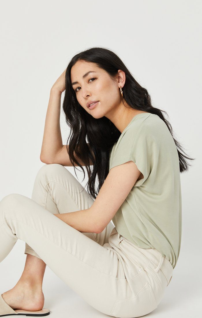 Tess High Rise Skinny Supersoft in Moonbeam