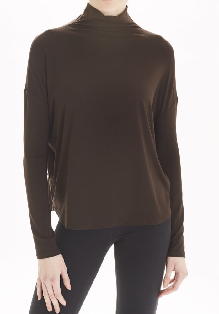 The Morgan Mock Neck top in Expresso