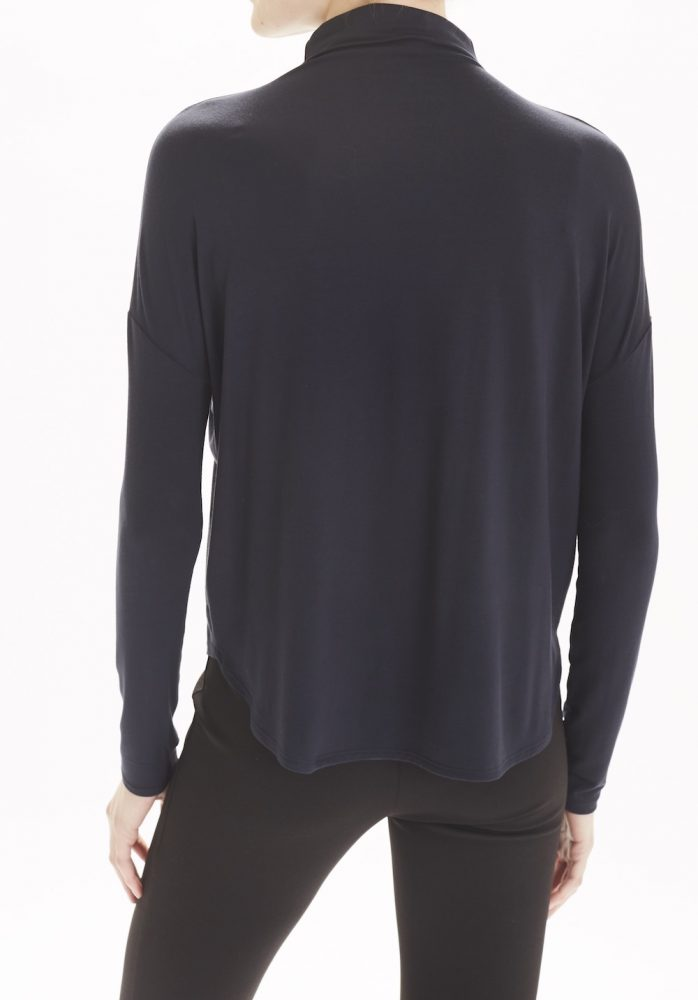 The Morgan Mock Neck Sweater in Navy
